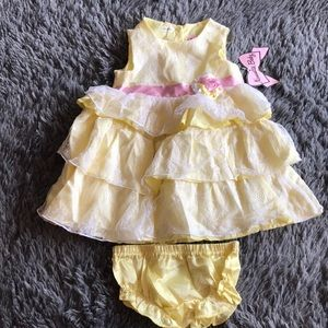 🆕NANNETTE BABY dress with diaper cover